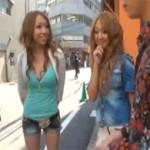 木下若菜:くそエロい格好で街を歩いてた美女二人組をナンパして乱交