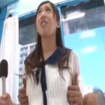 未来の女子アナがマジックミラー号乗車で違うマイク持たされた挙句セクロス!
