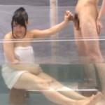 マジックミラー号で大学の先輩、後輩な二人を混浴さしてみた結果ww中出ししちゃっとるでww