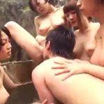 もしも混浴温泉で僕以外が全員巨乳痴女だったらこうなりますw青姦露出で輪姦乱交がコレ!