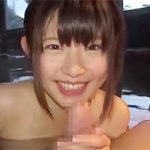 逢田みなみ:このベビーフェイスで巨乳とか…たまらん美女と露天で混浴しての青姦露出ハメハメ!