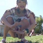 桜井あゆ:「ちょっと待ってw」野外で座りションを撮影されてからの巨根黒人と青姦ファック!
