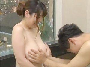 「すいません、いただきますw」混浴エッチミッションに挑戦した初対面男女w爆乳お姉さんの末路や如何にw
