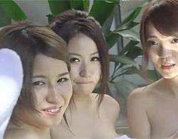 蒔田さき,藍原真里,高嶋ゆいか:女豹の目で誘惑する痴女3人が若いチムポを取り合う衝撃青姦動画!